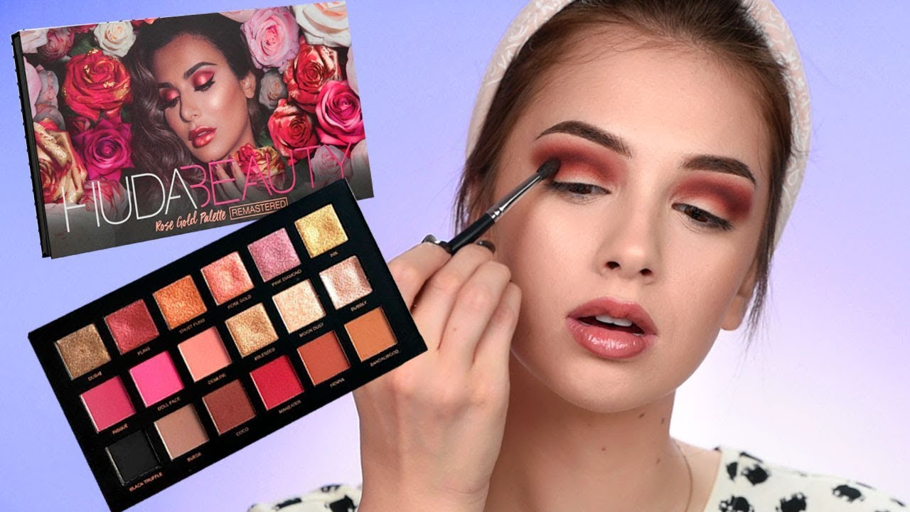 HUDA Beauty REMASTERED Rose Gold Palette First Impression. Denitslava Makeup