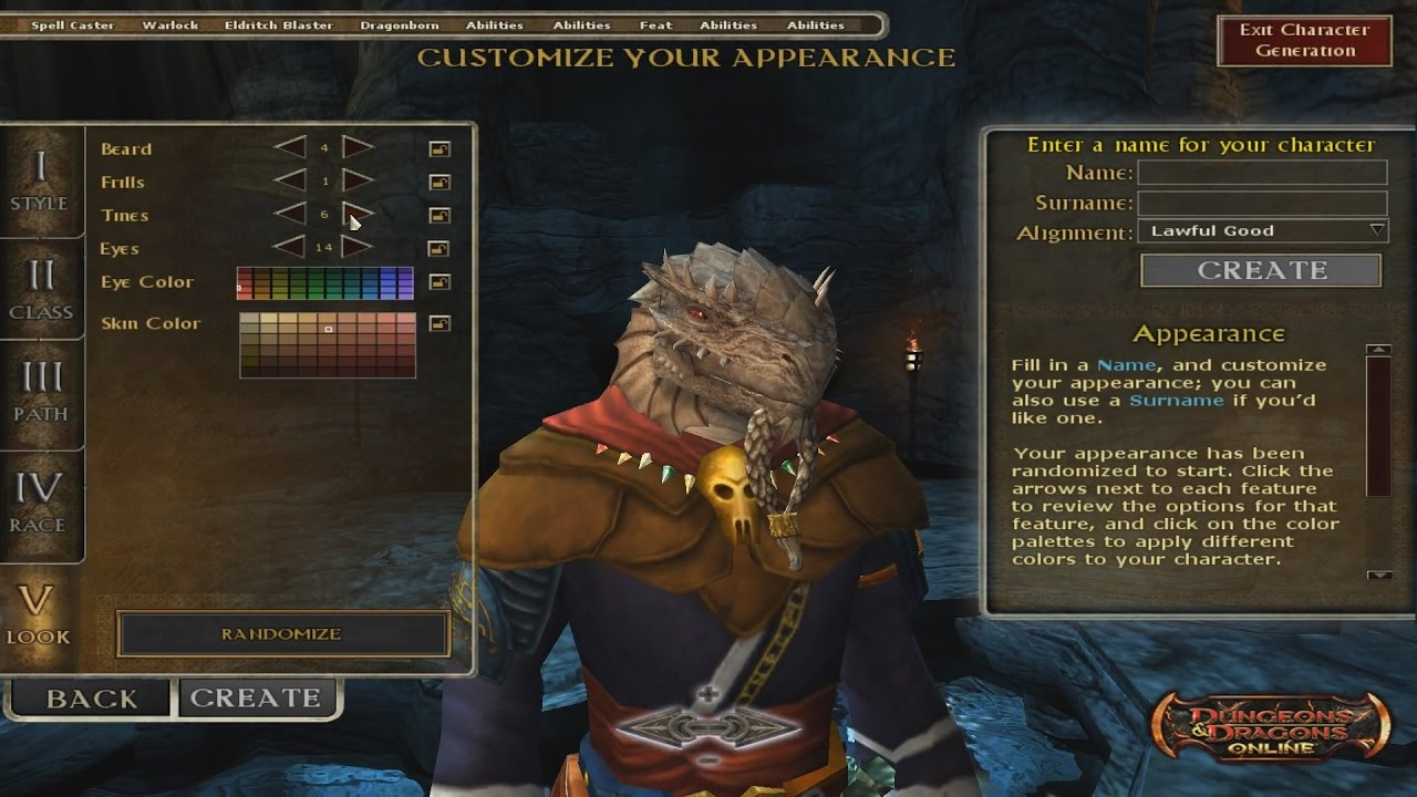 New Dragonborn race First Look- creation, enhancements, breath weapon