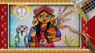 How to Draw LORD LAKSHMI || laxmi puja || LORD LAKSHMI DRAWING step by step for KIDS