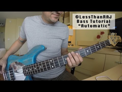 "Less Than Jake - Roger Lima - Bass Tutorial ""Automatic"" Vid 7"