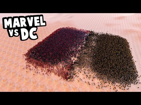 Marvel vs DC Comics Superheroes Fight - Who Wins? - Ultimate Epic Battle Simulator