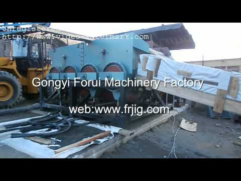Alluvial Tin Ore Dressing Work Site tin Processing Machine tin Jig Concentrator