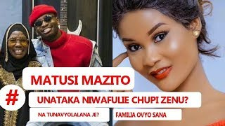 HAMISA APOROMOSHA MATUSI MAZITO KWA DIAMOND, AMVUA NGUO MAMA DIAMOND