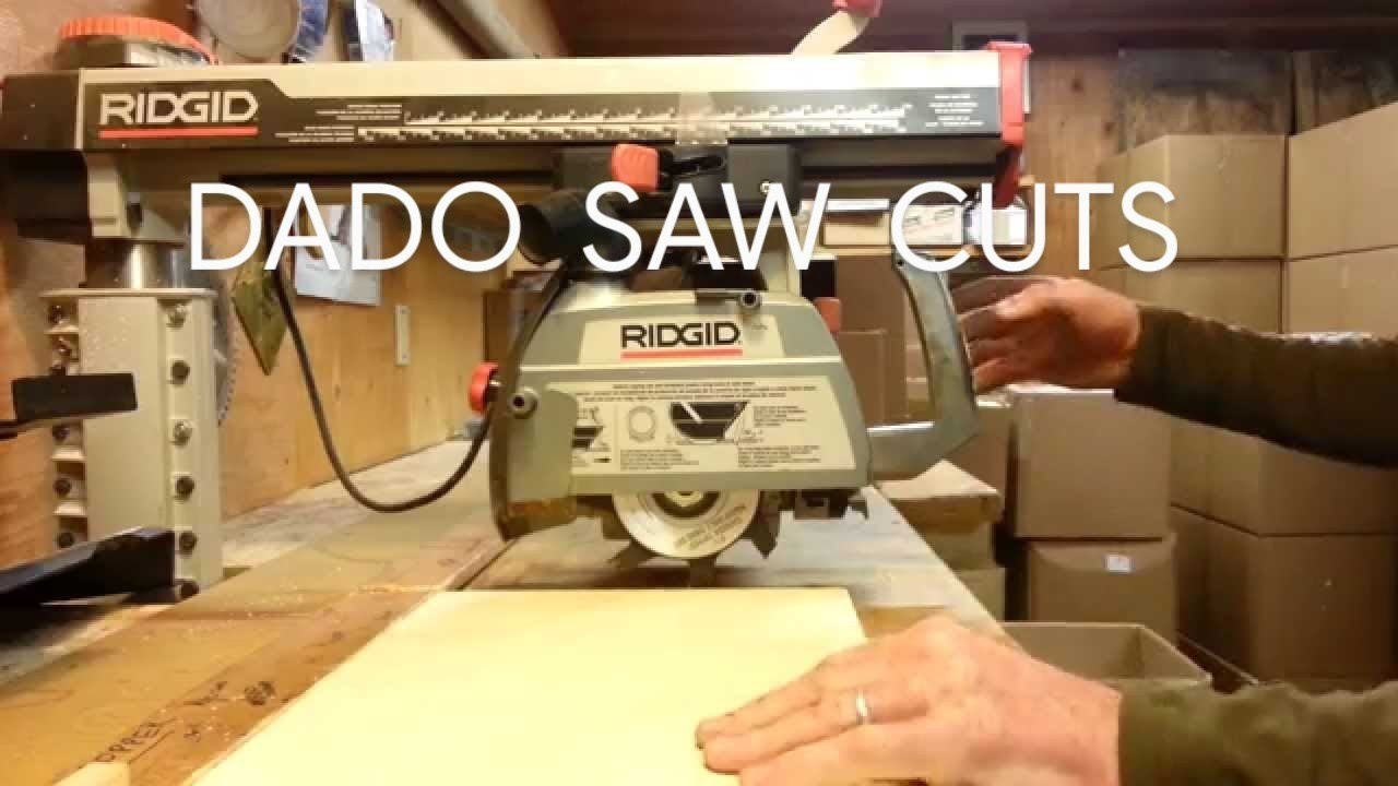 How to dado with the radial arm saw crosscut position youtube greentooth Images
