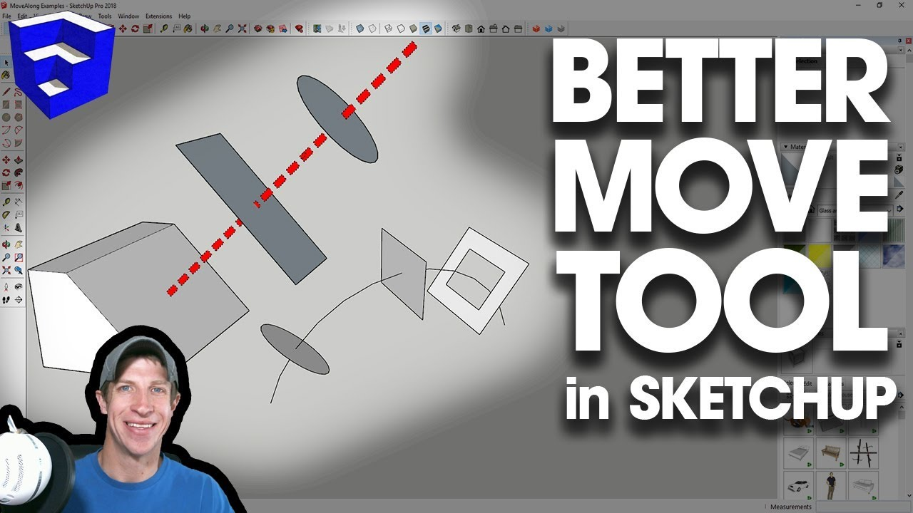 UPRGRADED MOVE TOOL for SketchUp - MoveAlong by Fredo6