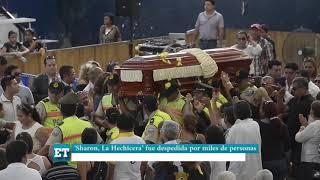 'Sharon La Hechicera' fue despedida por miles de personas