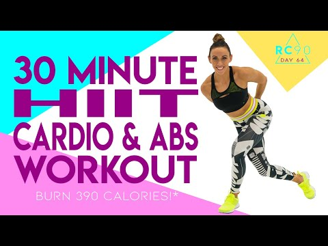 30 Minute HIIT Cardio And Abs Workout NO EQUIPMENT NEEDED! 🔥Burn 390 Calories!* 🔥 Day 64 | RC90
