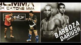 Edson Barboza training for Beneil Dariush fight at UFC Fortaleza