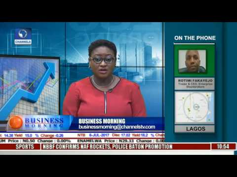 Business Morning: Stock Market Update As All Share Index Drops