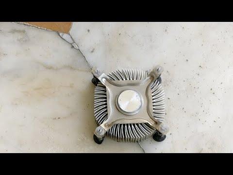Cleaning Intel Processor Heat Sink Full Of Dirt