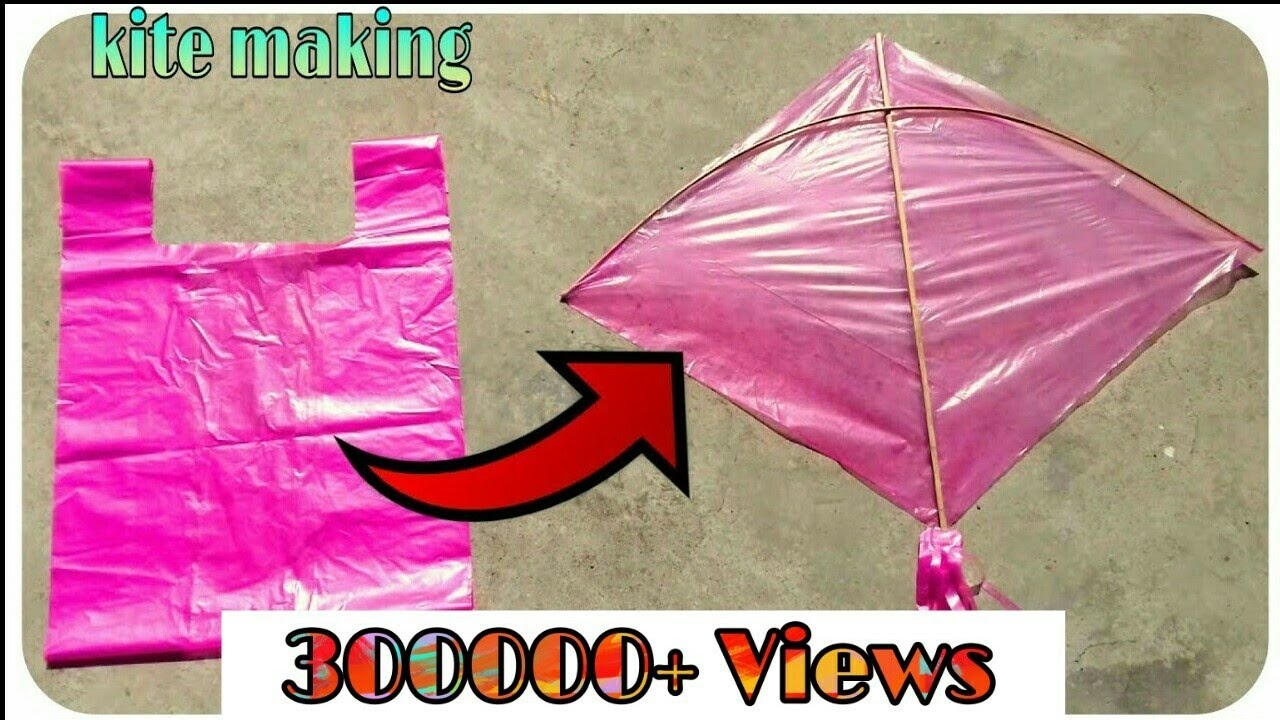 Download how to make kite at home ; how to make kite with plastic or news paper ; uttrayan kite making