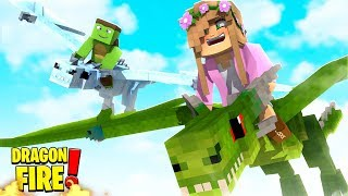 FLYING OUR DRAGONS FOR THE FIRST TIME! | Minecraft Dragon Fire | Little Kelly w/ Tiny Turtle