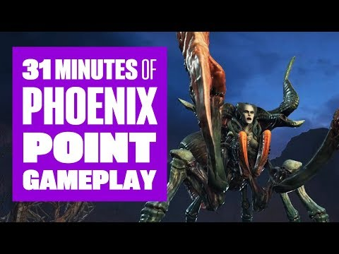 31 minutes of Phoenix Point Gameplay - One hell of a boss fight!