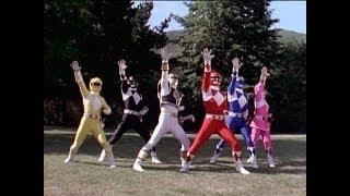 Mighty Morphin Power Rangers - The Power Rangers summon the Thunder Zords   Season 3