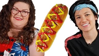 Kristin and Jen Compete To Make The Best Hot Dog | Kitchen & Jorn