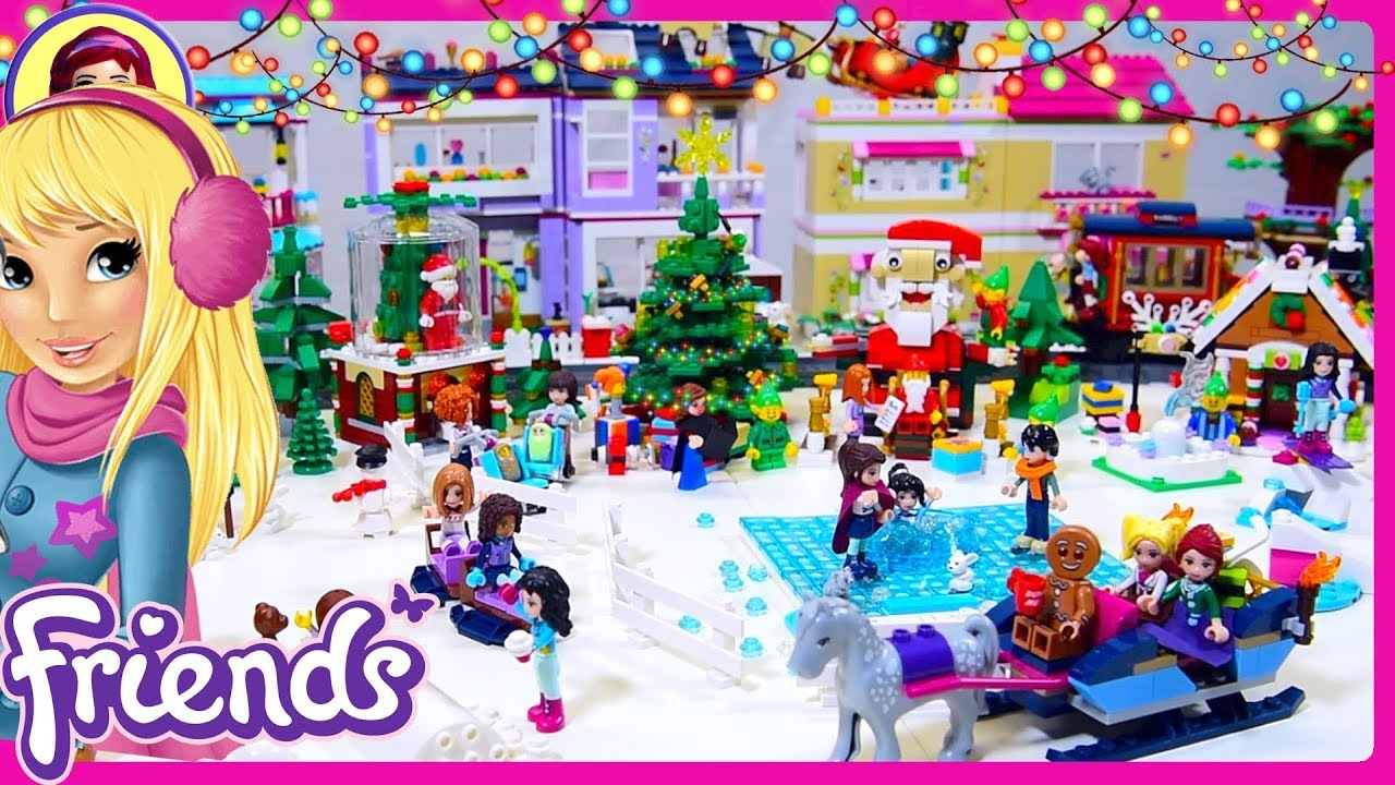 Lego Friends Christmas Sets.Lego Friends Christmas Village Walkthrough Tour Homemade Build Silly Play