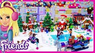 LEGO Friends Christmas Village Walkthrough Tour Homemade Build Silly Play