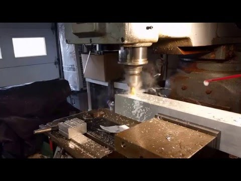 Milling out holes in 1/4