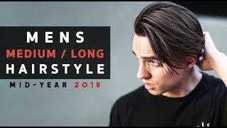 Men's Medium/Long Hairstyle 2018 + Hair Length Update #3