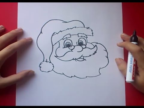 ... papa noel paso a paso 3 | How to draw Santa Claus 3 - YouTube