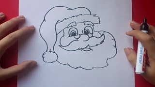 Como dibujar a papa noel paso a paso 3 | How to draw Santa Claus 3