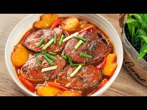 Cá Ngừ Kho Thơm theo cách này thịt mềm dẻ ăn rất ngon   Caramelized Tuna Fish