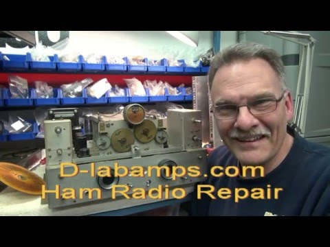 How to Repair National tube Shortwave Receiver radio dial slip by D-lab