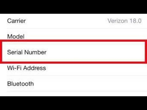 How To Find Iphone Serial Number | Apple Iphone 7 Serial Number
