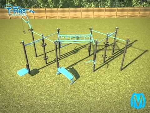 Movestrong T Rex Outdoor Fitness Station Customizable For