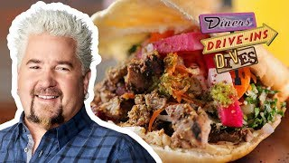 Steak Shawarma Pita on #DDD with Guy Fieri | Food Network