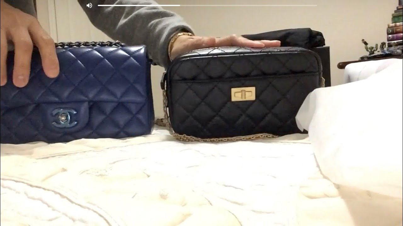 cd82859fc9b9 Chanel CAMERA CASE Reissue   MINI FLAP Comparison 2018 - YouTube