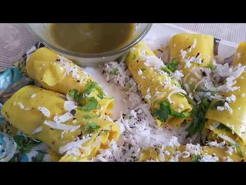 ना कढ़ाई ना माइक्रोवेव खांडवी बनाने की अनोखी रेसिपी /breakfast recipes indian New breakfast ideas