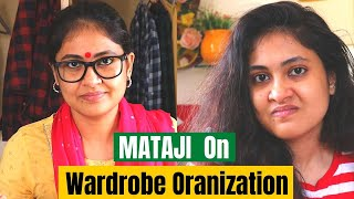 Mataji On Wardrobe Organization Ideas -Roast // Mother's Day video //Captain Nick