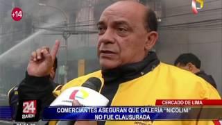 """Comerciantes aseguran que galería """"Nicolini"""" no fue clausurada"""