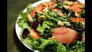 САЛАТ З МІДІЯМИ / Mussels salad (sub)  / Салат с мидиями