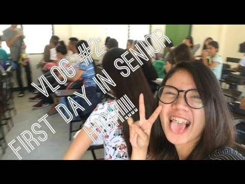 VLOG #2: FIRST DAY OF SCHOOL! Senior highschool in the Philippines ♥ | Yssa de Lara