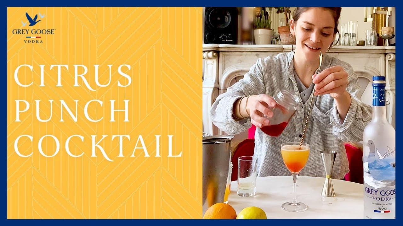 Citrus Punch Cocktail Recipe | Grey Goose House Pour