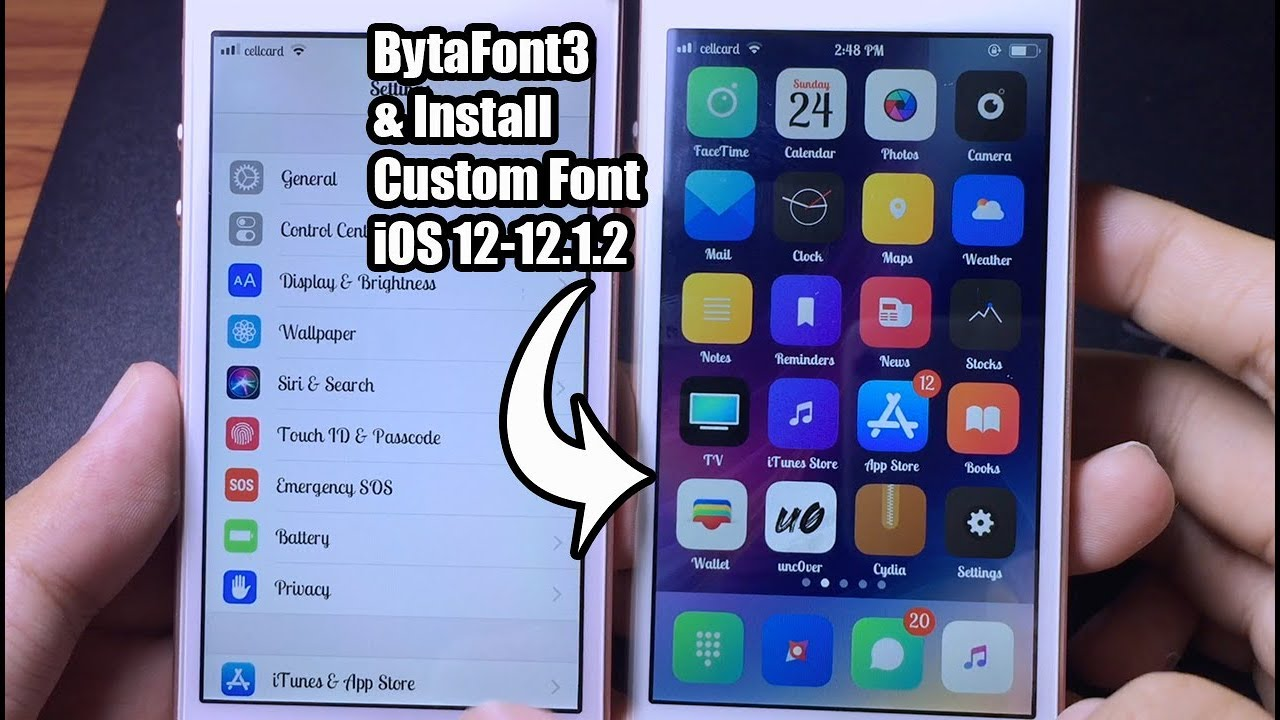 *NEW* How to Install BytaFont 1 & Custom Font On iOS 1-1.1.1
