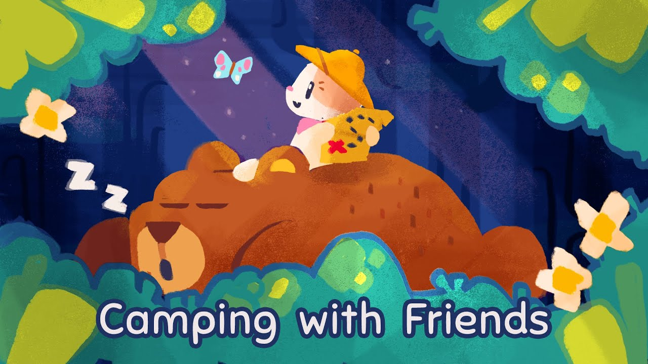 Camping with Friends - Super Cat Tales Shorts