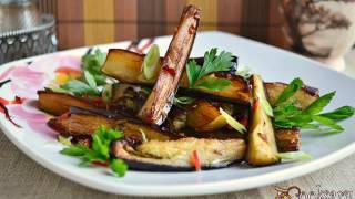Баклажаны жареные с чесноком и острым перцем