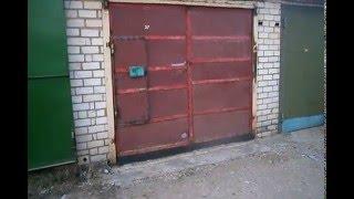 Самодельные гаражные ворота открываются вверх электроприводом(, 2016-02-11T16:59:44.000Z)