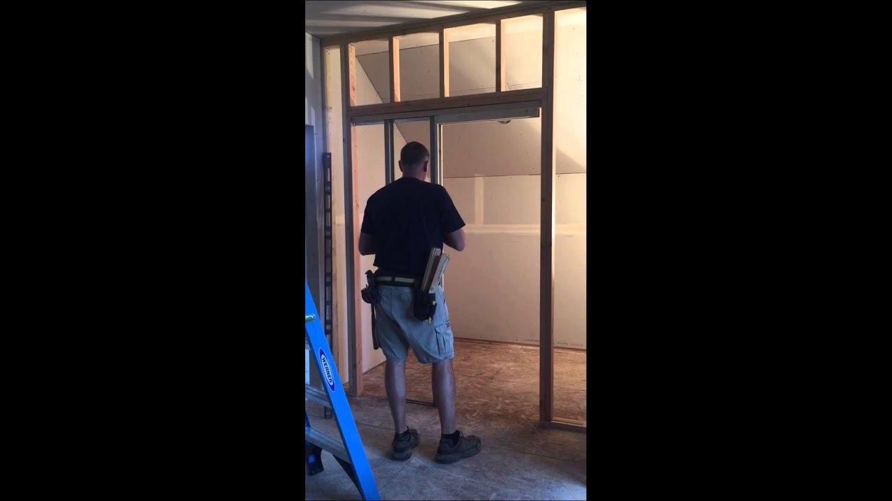 Pocket Door Frame Installation : Heavy duty pocket door frame installation youtube