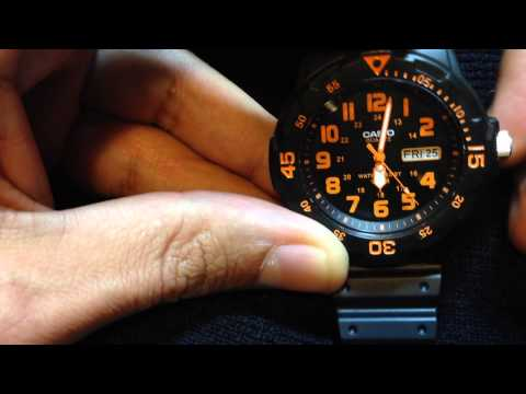 How to set day & date on Casio MRW200H Watch