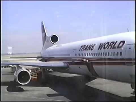 TWA Lockheed L-1011 TriStar takeoff, flight & landing STL - PHX March, 1991