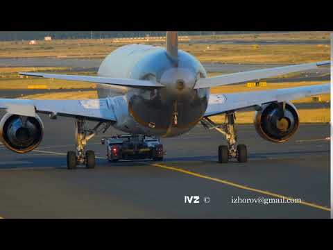 Boeing 767 towing to service