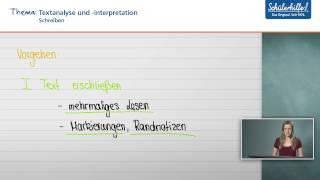 Gute Analyse Schreiben Analyse Schreiben Deutsch Anleitung Perfekte