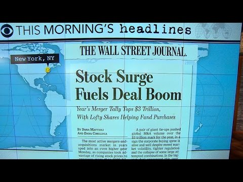 Headlines: Value of global mergers surpass $3 trillion