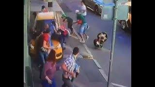 ЖЕСТЬ!!! В Москве таксист из Киргизии СБИЛ пешеходов на тротуаре!!!