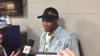 Russell Westbrook Postgame: Oklahoma City Thunder @ Denver Nuggets [February 27, 2019]