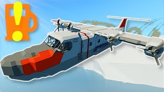 PLANE RUNS OUT OF FUEL IN ARCTIC! - Stormworks Multiplayer Gameplay - Arctic Plane Survival